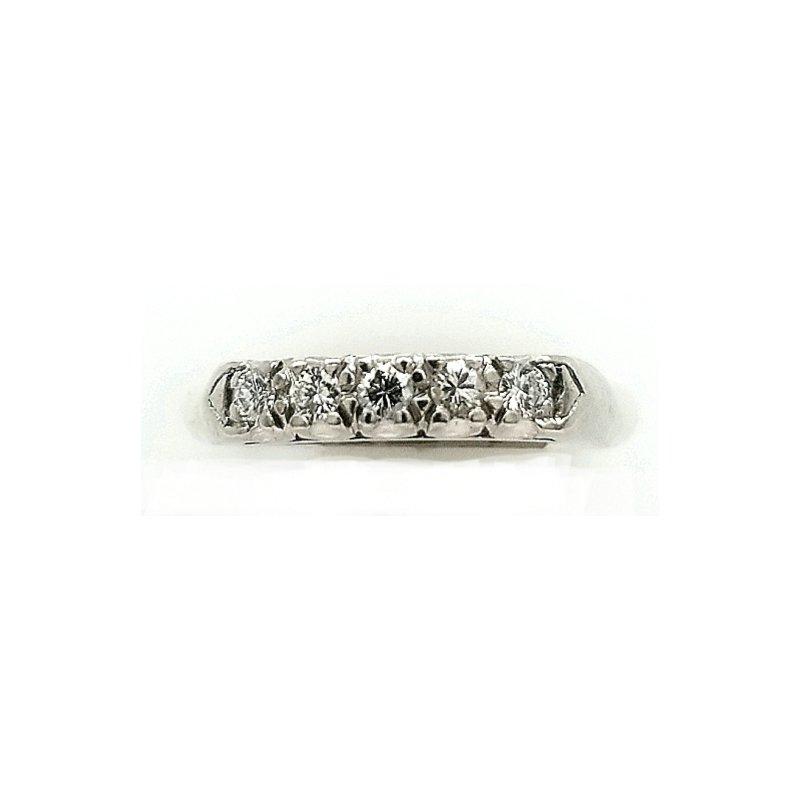 Smithworks Estate Jewelry Diamond and Platinum Band