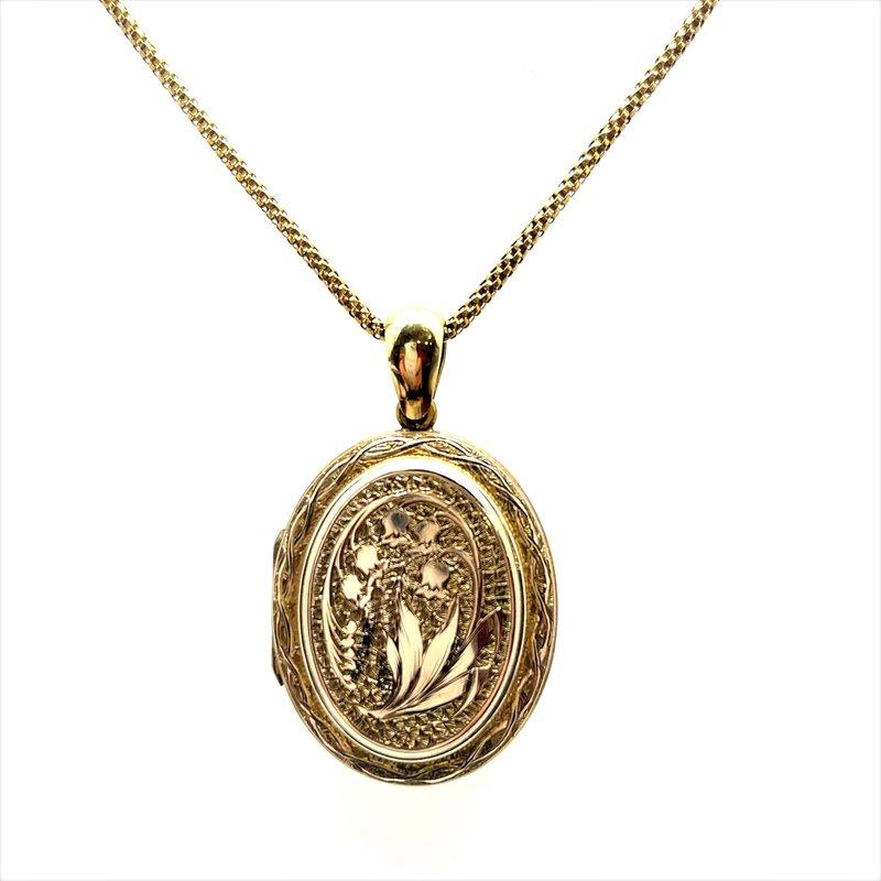 Smithworks Estate Jewelry Gold Filled Engraved Estate Locket