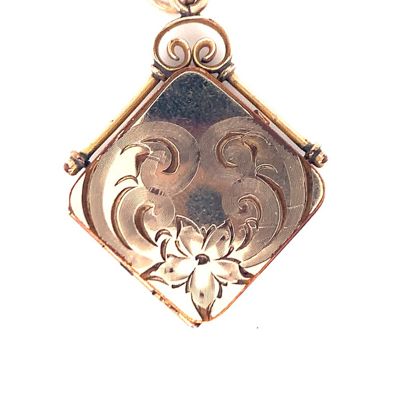 Smithworks Estate Jewelry Lady's Gold Filled Square Estate Locket