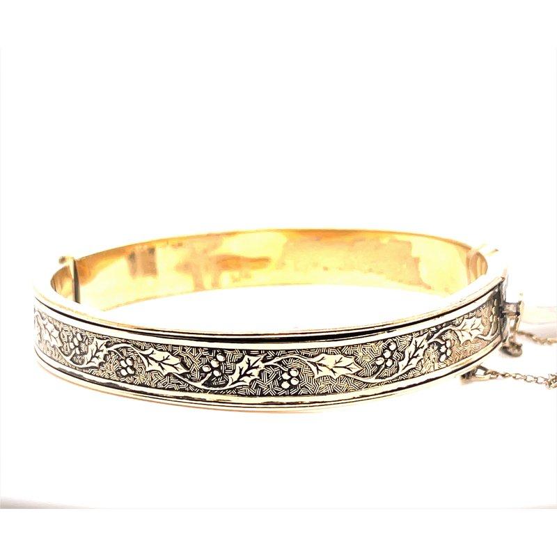 Smithworks Estate Jewelry Lady's Gold Filled Holly Motif Bracelet