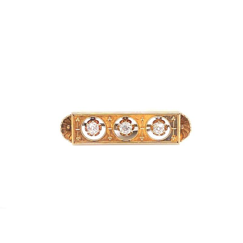 Smithworks Estate Jewelry Lady's Florentine Bar Estate Pin