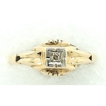 Ladies 14k Yellow Ring with Small Diamond Accents