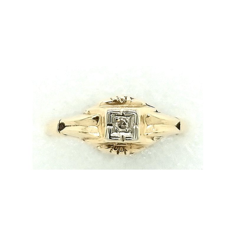 Smithworks Estate Jewelry Ladies 14k Yellow Ring with Small Diamond Accents