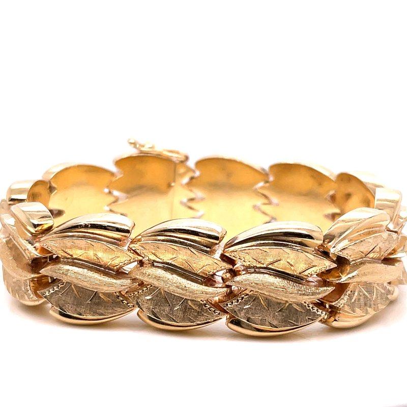 Smithworks Estate Jewelry Lady's Engraved Chevron Estate Bracelet