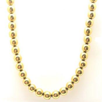 Lady's 14K Beaded Necklace