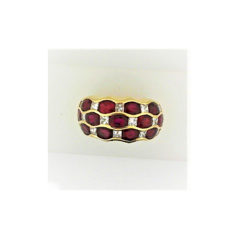 Smithworks Estate Jewelry Lady's Yellow 18 Karat Ruby Estate Ring