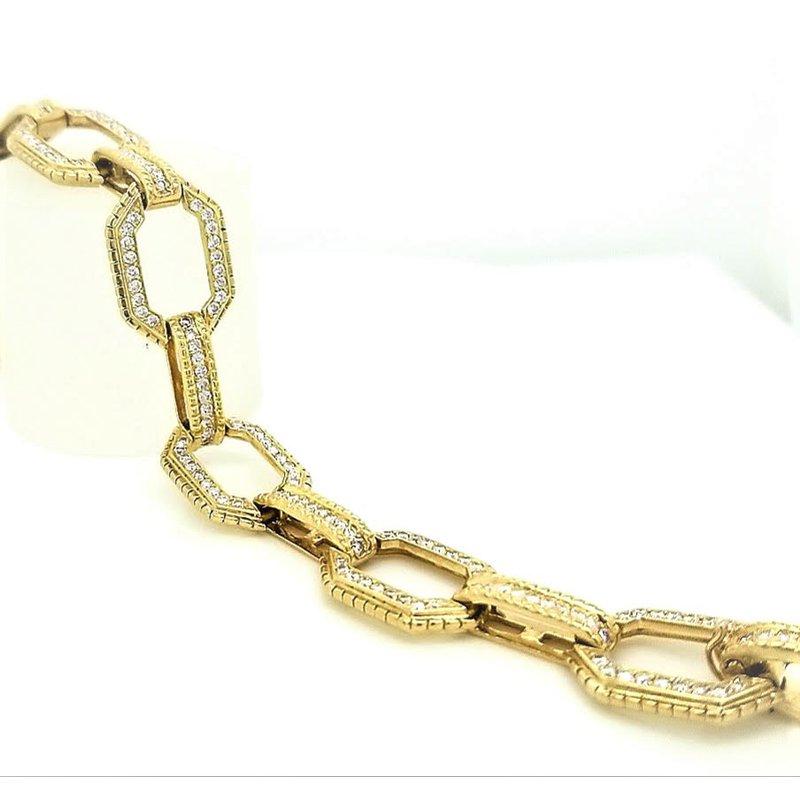Smithworks Estate Jewelry Lady's Diamond Link Estate Bracelet