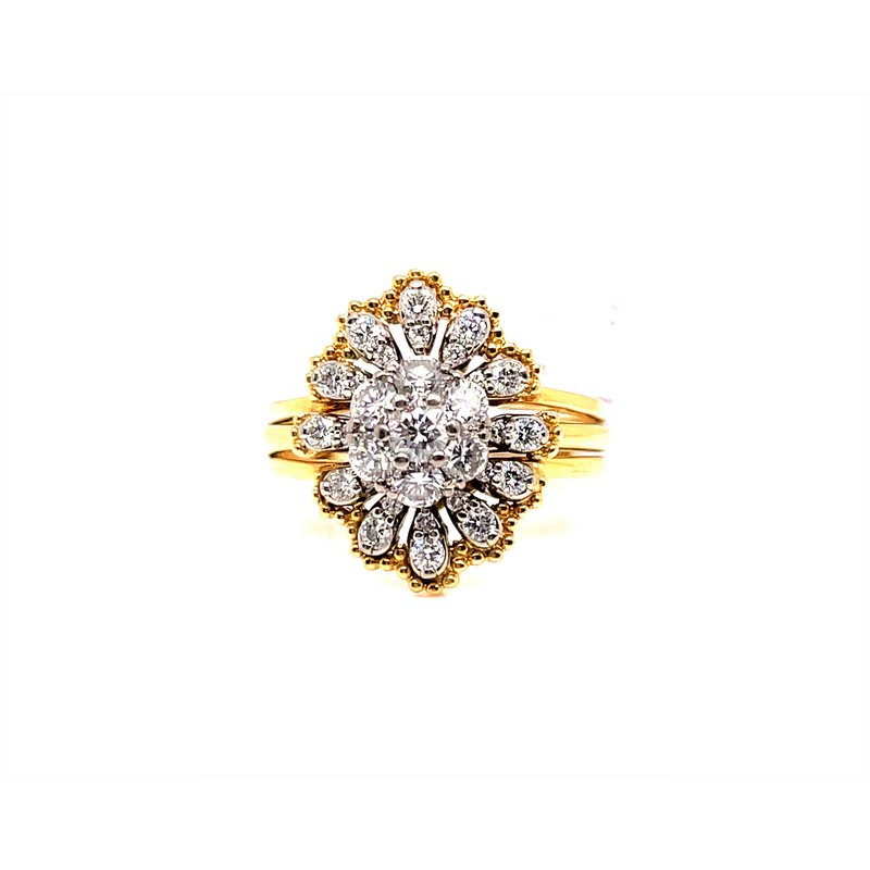 Smithworks Estate Jewelry Lady's 18 Karat Bridal Ring with Guard