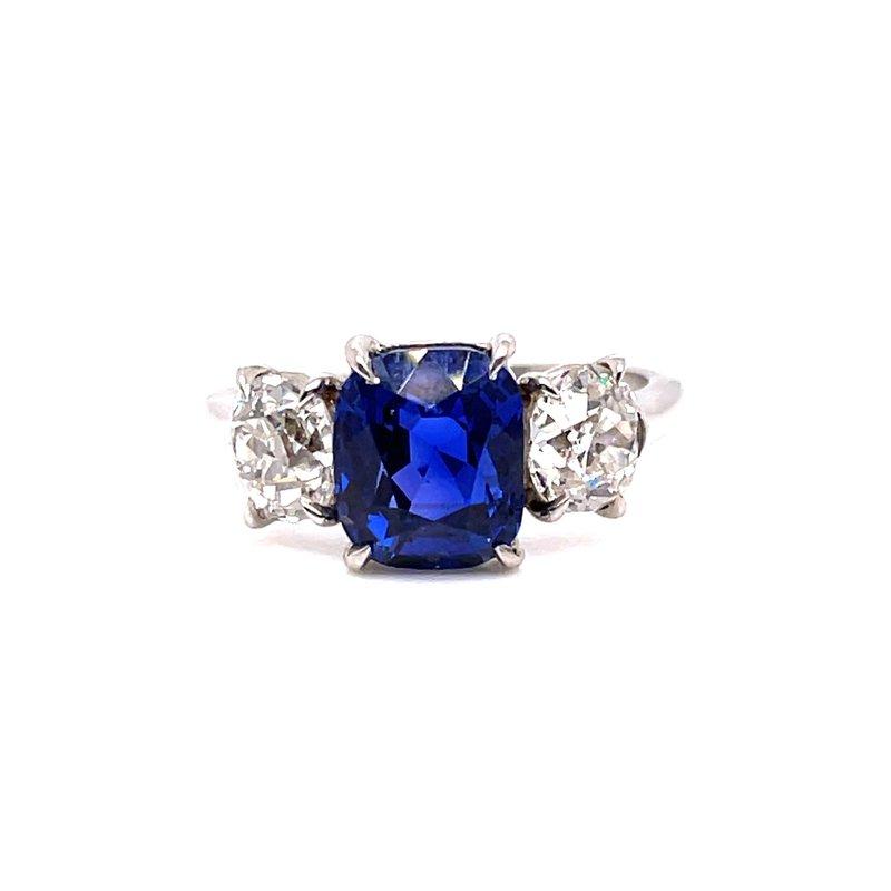 Smithworks Estate Jewelry Lady's Platinum Sapphire and Diamond Ring