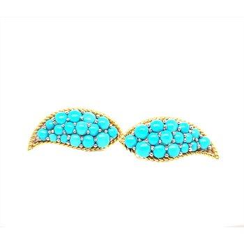 Lady's 14K Turquoise Earrings