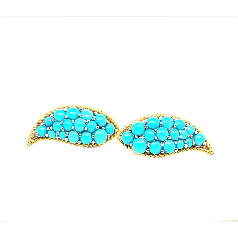 Smithworks Estate Jewelry Lady's 14K Turquoise Earrings