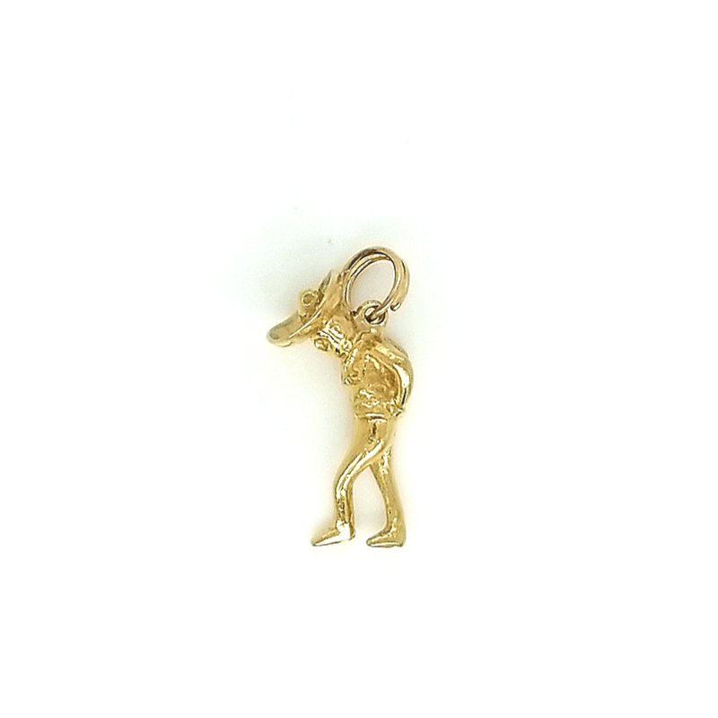 Smithworks Estate Jewelry 14ky Estate Charm of Man in Hat