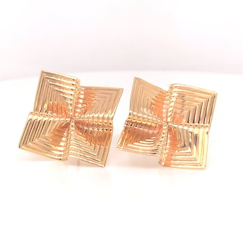 Lady's Fluted Estate Earrings