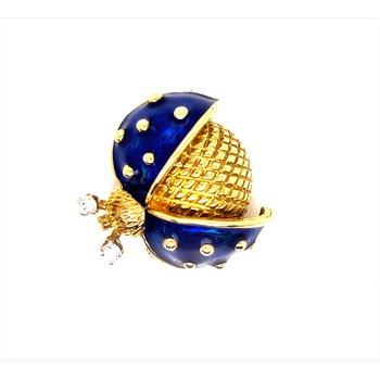 Lady's Enamel Blue Ladybug Pin
