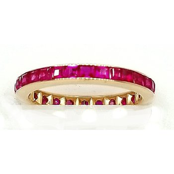 Rose Gold and Ruby Channel Set Eternity Band