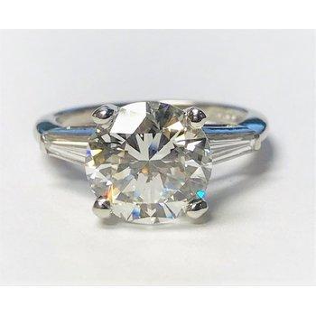 Lady's Platinum Engagement Ring