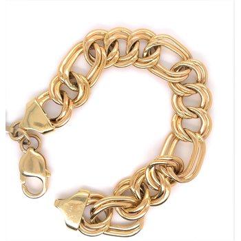 Lady's Polished Curb Link Estate Bracelet