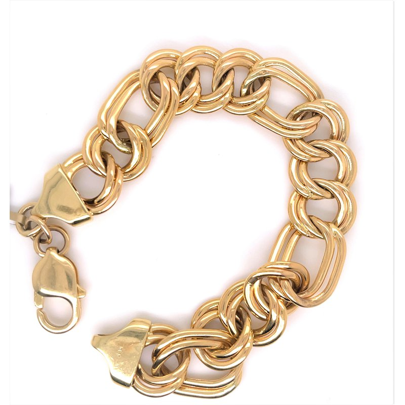 Smithworks Estate Jewelry Lady's Polished Curb Link Estate Bracelet