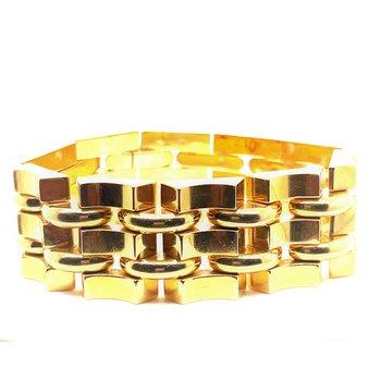 Lady's Wide Fancy Link Bracelet