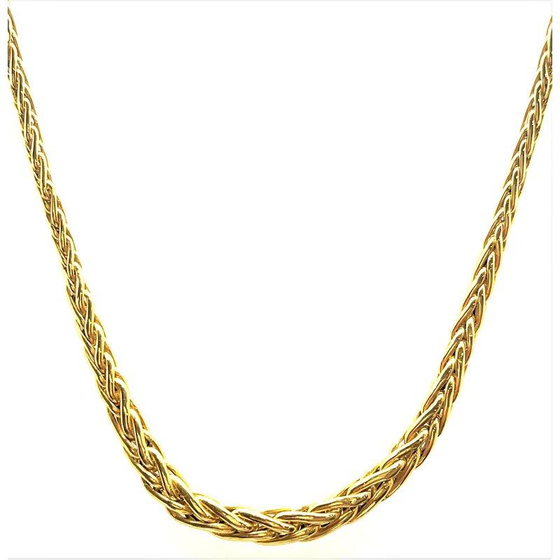 Smithworks Estate Jewelry Lady's Wheat Chain Estate Necklace