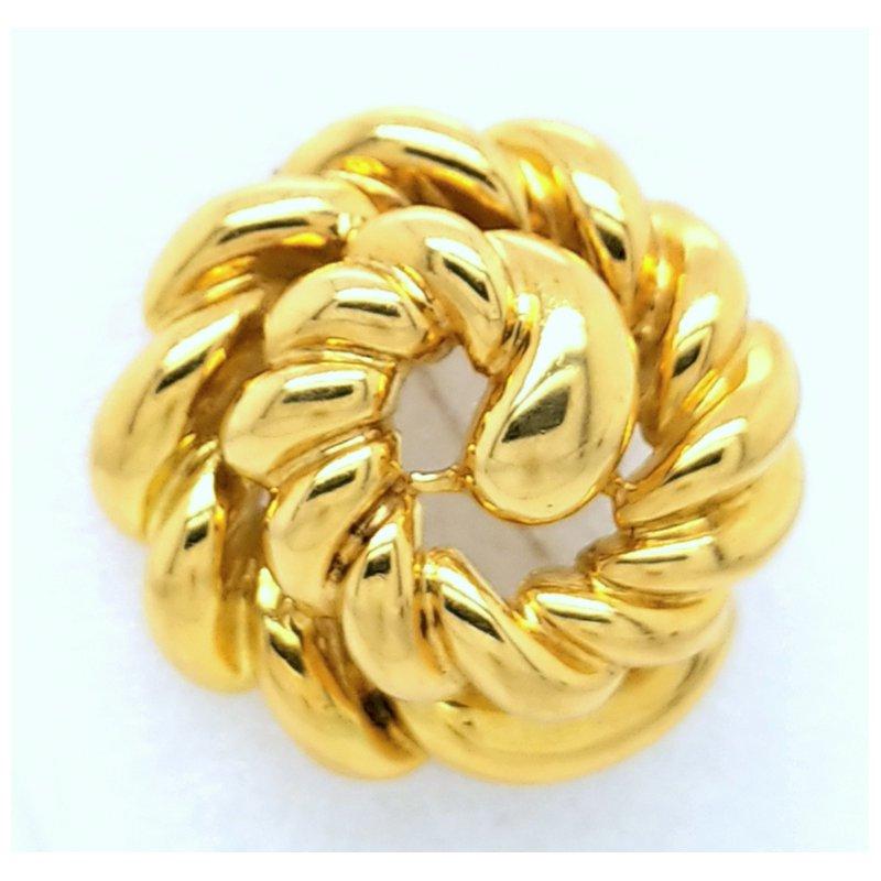Smithworks Estate Jewelry 18ky Swirl Pin