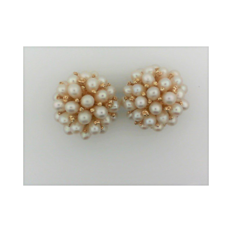 Smithworks Estate Jewelry Lady's Cultured Pearl Cluster Clip-ons