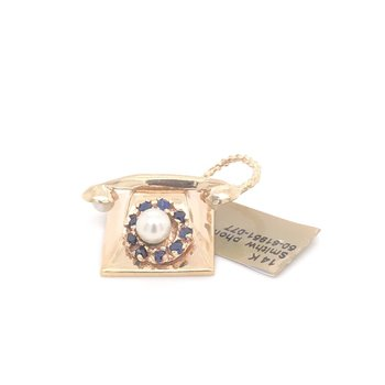 14kt Yellow Gold Telephone Charm