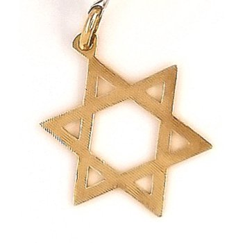 14k Estate Charm Star Of David