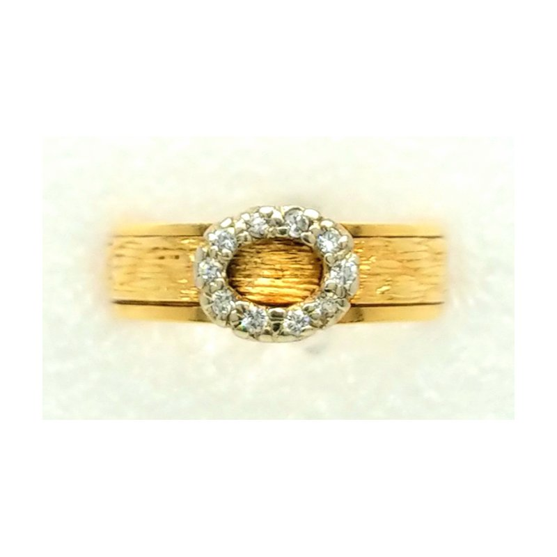 Smithworks Estate Jewelry 18K Yellow Gold ring with Circle of Diamonds