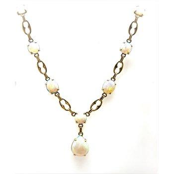 Lady's 14 Karat Opal Necklace