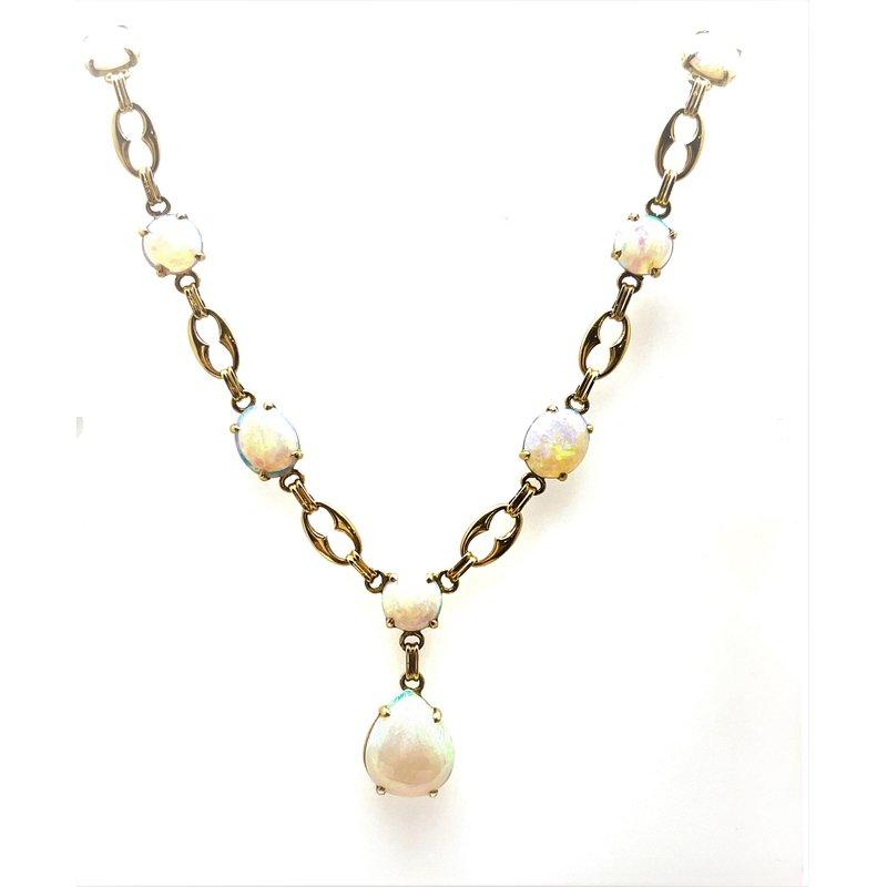 Smithworks Estate Jewelry Lady's 14 Karat Opal Necklace