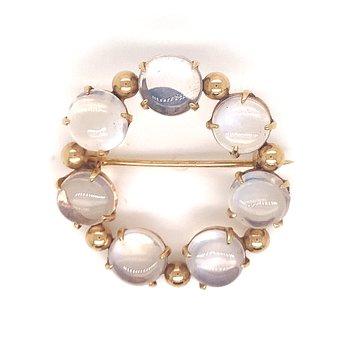 Lady's Moonstone Pin