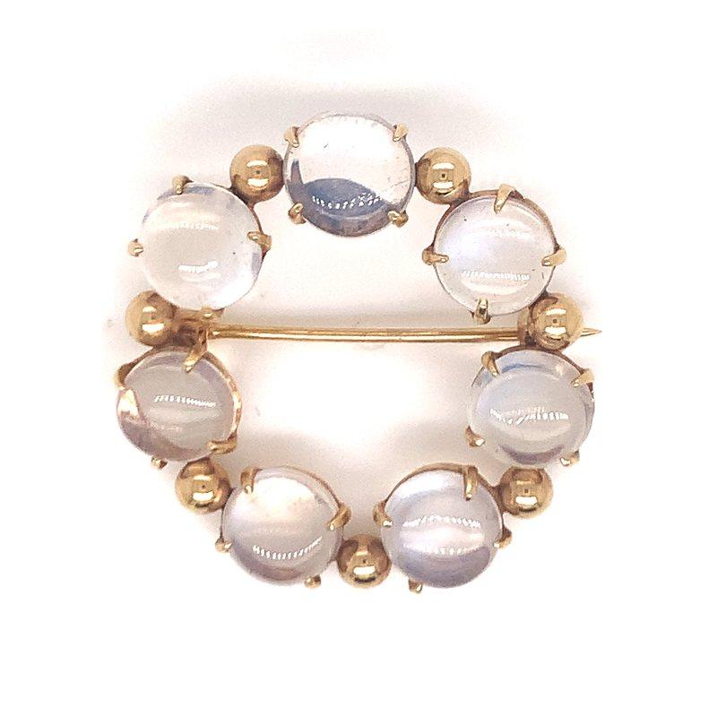 Smithworks Estate Jewelry Lady's Moonstone Pin