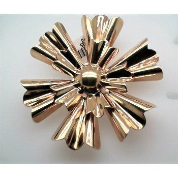 Lady's Gold Snowflake Estate Pin