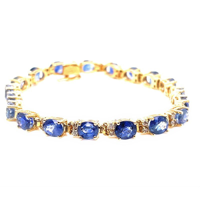 Smithworks Estate Jewelry Lady's Sapphire and Diamond Bracelet