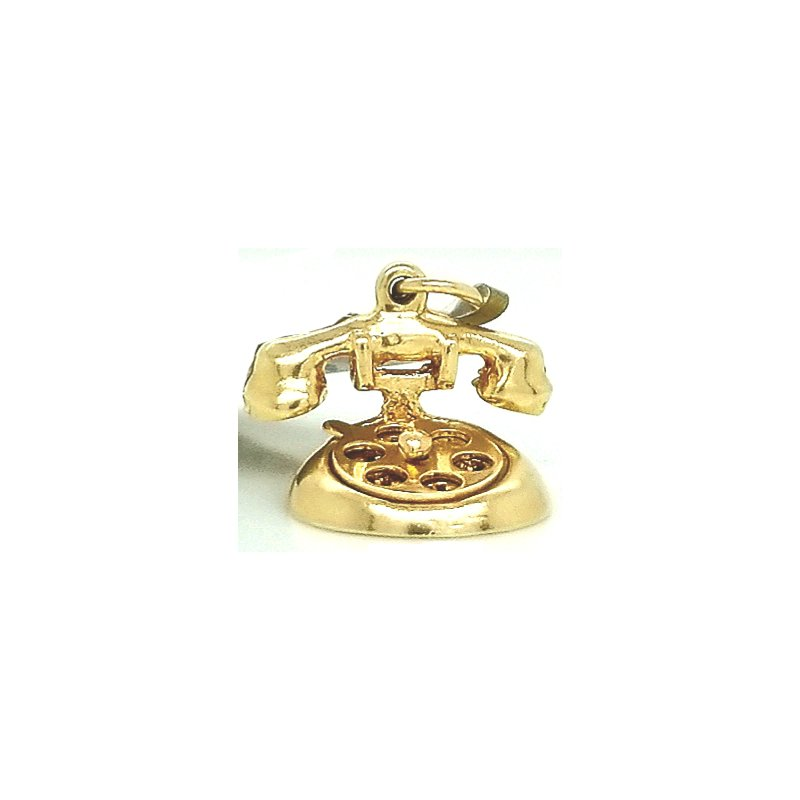 Smithworks Estate Jewelry 14ky Estate Charm Rotary Princess Phone