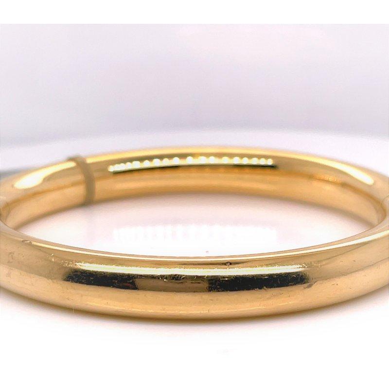 Smithworks Estate Jewelry Lady's 14 Karat Plain Italian Estate Bracelet