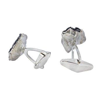 SS Meteorite Cuff Links