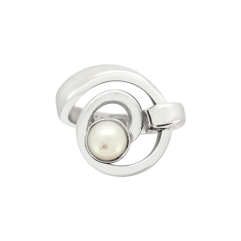 Lilly Barrack SS Cultured Pearl Swirl Ring