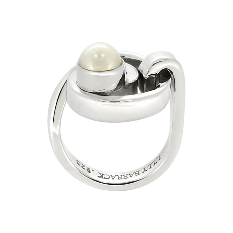 SS Cultured Pearl Swirl Ring