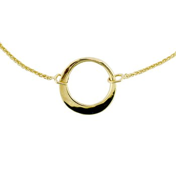 14KY Little Ring Necklace