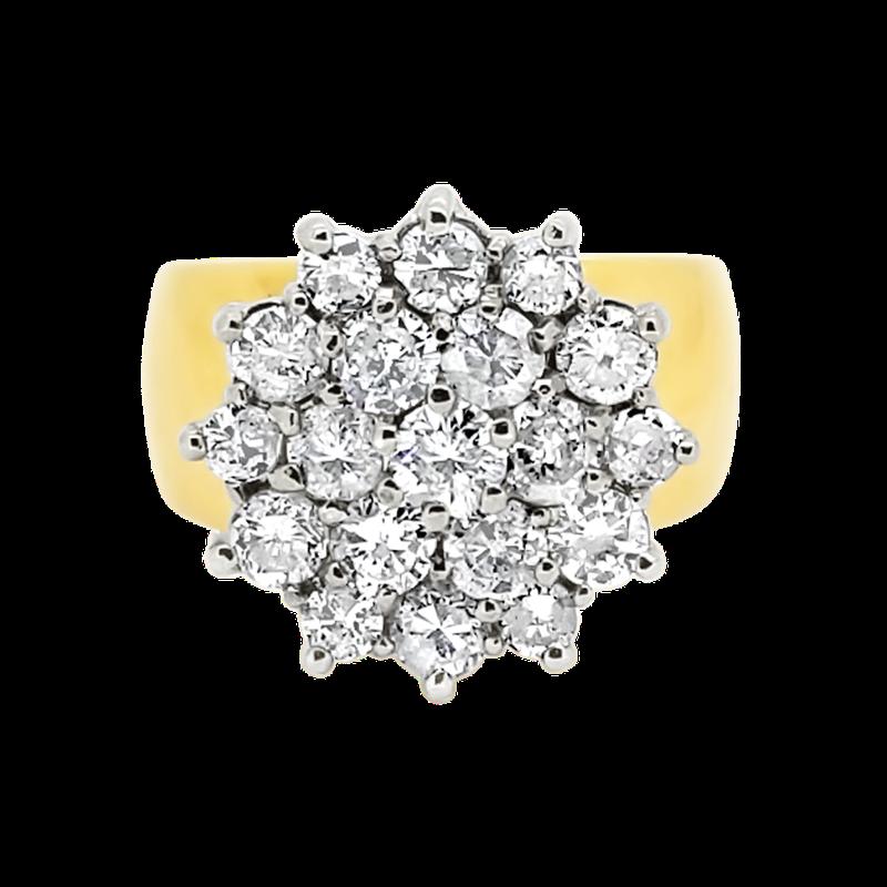 Estate Collection Estate 14K Two-Tone Diamond Cluster Ring
