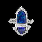 Estate Collection Estate Platinum Black Opal Ring