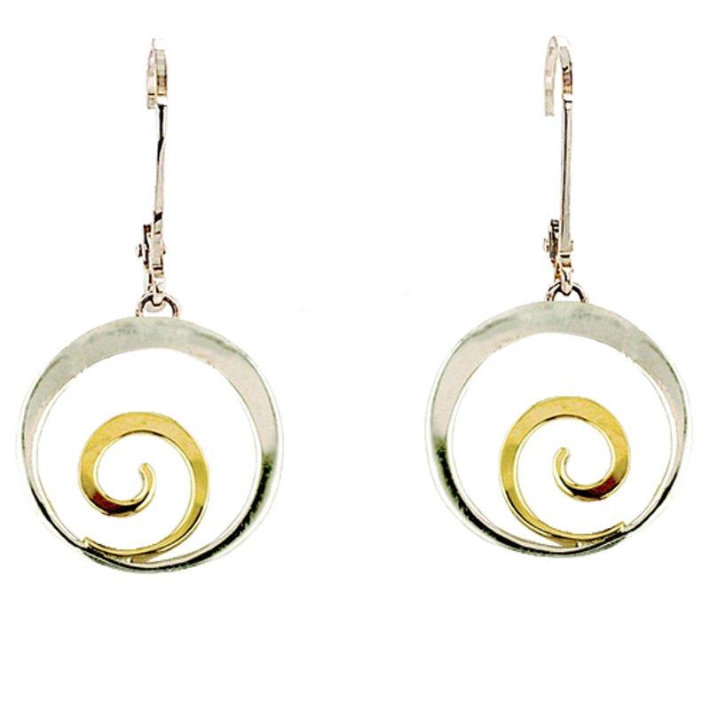 Tom Kruskal Designs SS/14KY Little Spiral Earrings