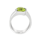 John Beirle SS Lime Green CZ Ring