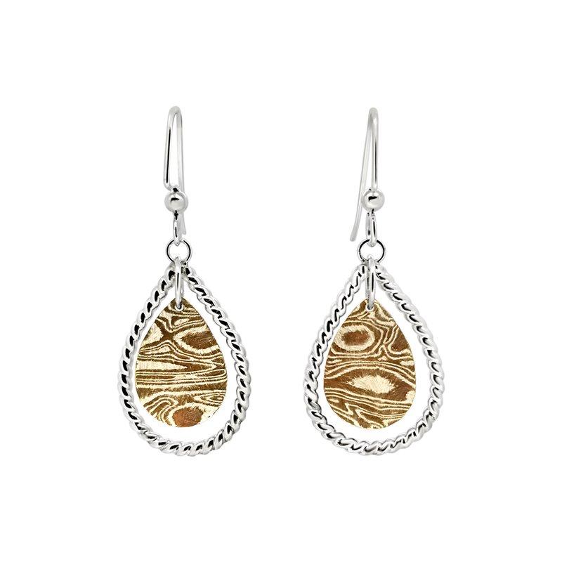 Brent Koenders SS/Copper Mokume Gane Earrings