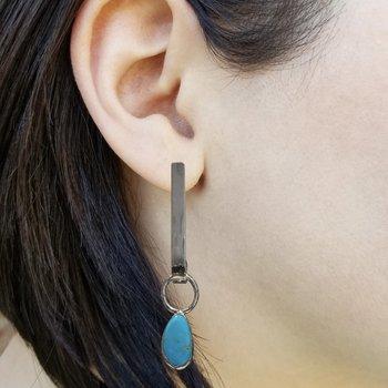 SS Turquoise Drop Earrings