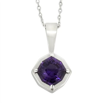 SS Amethyst Pendant with Chain