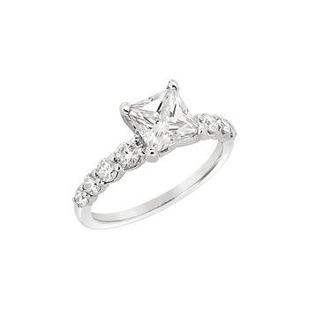 Estate 14KW Moissanite Engagement Ring