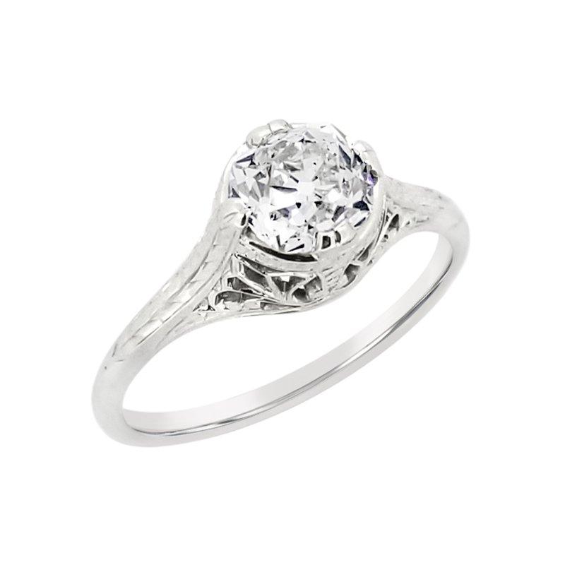 Estate Collection Estate 18KW Vintage Engagement Ring